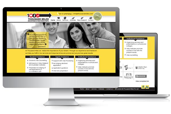thousand miles website template