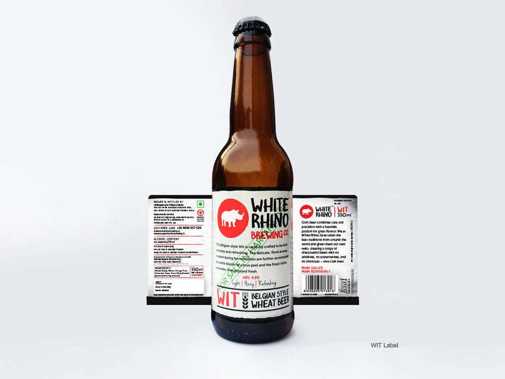 Beer Bottle Label for WIT