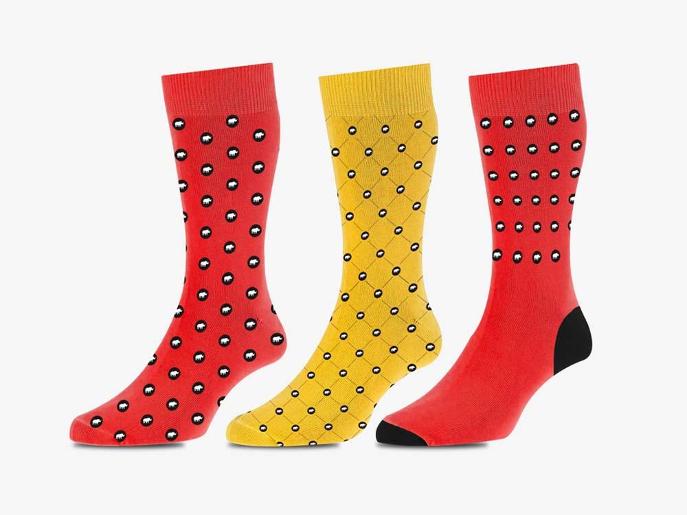 designed socks print