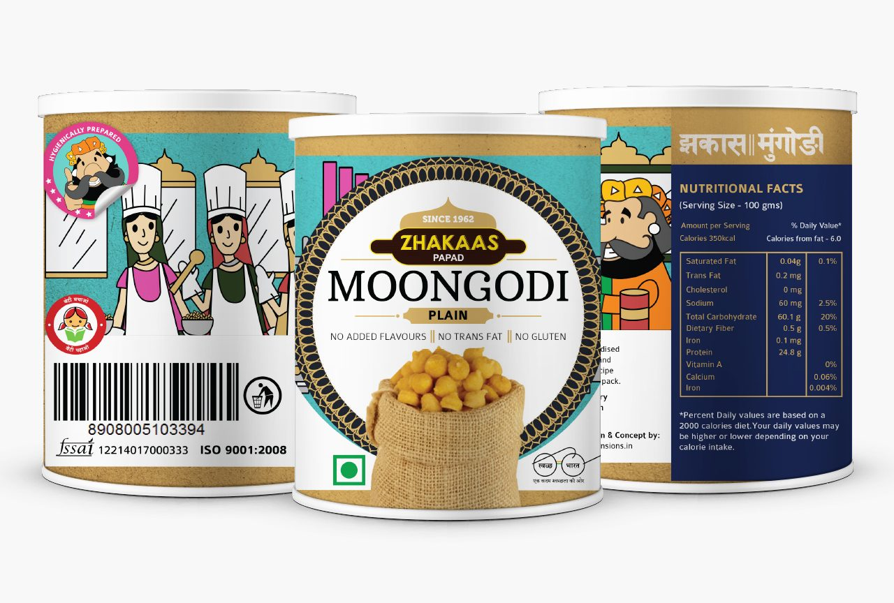Moongodi packaging