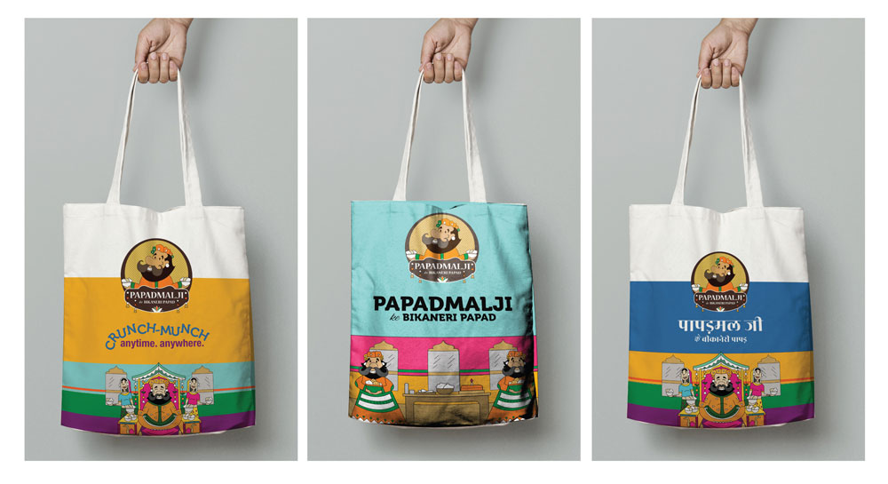 Papadmalji shopping Bags
