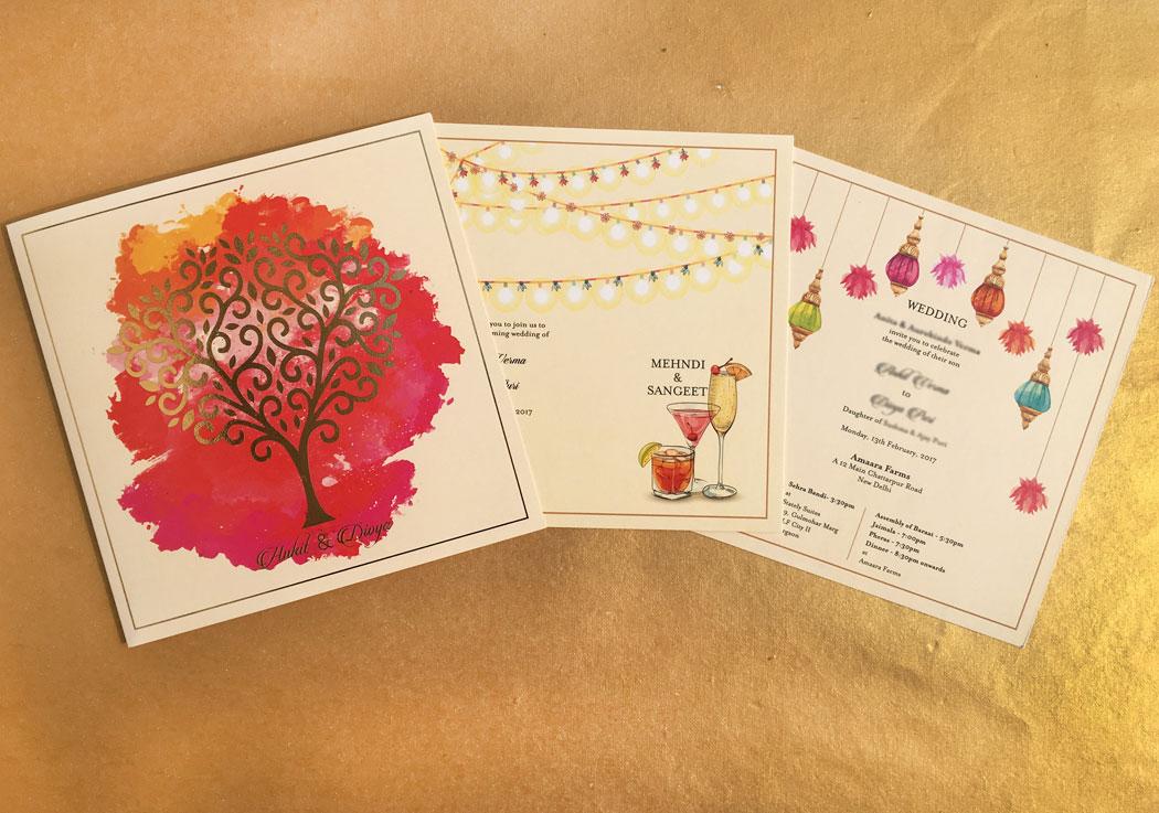 bride's invite card